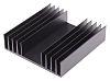 Heatsink, Universal Rectangular Alu, 1.9K/W, 100 x 97 x 25mm