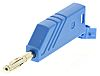 Hirschmann Test & Measurement Blue Male Banana Plug