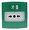 KAC Green Break Glass Call Point, Break Glass Operated, Resettable