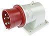 Złącze przemysłowe - zasilające, 16.0A, 415.0 V., Męski, Montaż ścienny, IP44, kolor: Czerwony, RS PRO