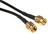 RS PRO Black Coaxial Cable, 50 Ω