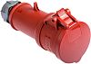 MENNEKES, StarTOP IP44 Red Cable Mount 5P Industrial Power Socket, Rated At 32.0A, 400 V