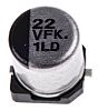 Panasonic 22μF 35V dc Aluminium Electrolytic Capacitor, Surface