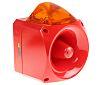 Klaxon Nexus Sounder Beacon 120dB, Amber Xenon, 110