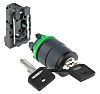 Schneider Electric 2 Position 90° Rotary Switch, Key,