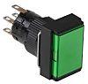 Schneider Electric, Harmony XB6E Illuminated Green Rectangular,