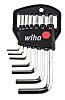 Wiha Tools Metrisch Sechskantschlüsselsatz mit , 7-teilig, L-Form, Kurz, 1.5mm