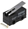 SPDT-NO/NC Hinge Lever Microswitch, 100 mA @ 30