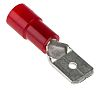 RS PRO Red Insulated Spade Connector, 0.8 x