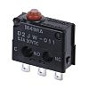 SPDT-NO/NC Pin Plunger Microswitch, 100 mA @ 30