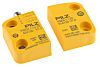 Interruptor de seguridad Pilz 504220, IP67, 42.8 x 26 x 13 mm, Magnetic, 4, Plastic, M8, Sí, 2NO, 13mm, Amarillo,