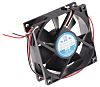 RS PRO, 12 V dc, DC Axial Fan, 80 x 80 x 25mm, 68m³/h, 2.9W