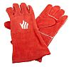 Red Leather Welding Gloves L