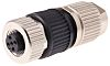 Harting Connector, 4 contacts Cable Mount M12 Socket