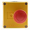Siemens, Red/Yellow/Black, Twist to Reset 32mm Mushroom Head