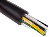 RS PRO 6 Core Unscreened Industrial Cable, 0.5 mm² Black 100m Reel