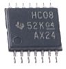 Texas Instruments SN74HC08PW, Quad 2-Input AND Logic Gate, 14-Pin TSSOP