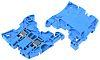 Entrelec ZS4 Reihenklemme Zweifach Blau, 4mm², 1 kV ac / 32A, Schraubanschluss