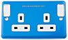 MK Electric RAL5015 2 Gang Plug Socket, 2