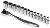 RS PRO 14 Piece Socket Set, 1/4 in Square Drive