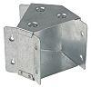 RS PRO Galvanised Steel 100 x 100mm 45°