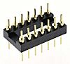 ASSMANN WSW Straight Through Hole Mount 2.54mm Pitch IC Socket Adapter, 14 Pin Male DIP to 14 Pin Male DIP