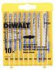 DeWALT T-Shank Jigsaw Blade Set For Metal, 50