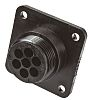 TE Connectivity Connector, 7 contacts Panel Mount Socket,