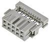 TE Connectivity AMP-LATCH IDC-Steckverbinder Buchse 90° gewinkelt, 10-polig / 2-reihig, Raster 2.54mm