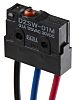 Omron SPDT-NO/NC Pin Plunger Microswitch, 100 mA @ 30 V dc, Pre-wired Terminal