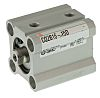 SMC Pneumatic Compact Cylinder 16mm Bore, 15mm Stroke,