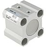 SMC Pneumatic Compact Cylinder 20mm Bore, 10mm Stroke,