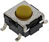 Érintőkapcsoló Gomb, SPST-NO, 50 mA 24 V DC esetén, 4.3mm 0.8mm