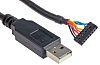 FTDI Chip, 3.3 V TTL 2mm pitch USB