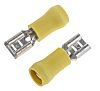 JST FVDDF Series Yellow Insulated Crimp Receptacle, 6.35