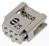 Harting 6-Way IDC Connector Socket for Cable Mount,