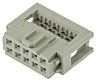 Harting 10-Way IDC Connector Socket for Cable Mount,