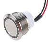 ITW 48M Single Pole Single Throw (SPST) Latching Blue LED Push Button Switch, IP67, 19.43mm, Panel Mount, 48V dc