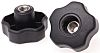 RS PRO Black Multiple Lobes Clamping Knob, M10
