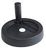 RS PRO Black Nylon Hand Wheel, 125mm