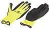 Delta Plus Yellow Latex Coated Polyester Work Gloves, Size 8, Medium, 2 Gloves