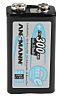 Ansmann 300mAh NiMH 9V Rechargeable Battery