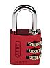 ABUS 145/30 Red All Weather Aluminium, Steel Safety