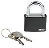 ABUS 50871- T65AL/40 Black All Weather Aluminium, Steel Safety Padlock 43mm