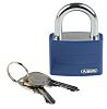 Abus 43mm Aluminium, Steel Key Safety Padlock