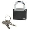 ABUS 49944 - T65AL/40 Black KA 6401 All Weather Aluminium, Steel Safety Padlock Keyed Alike 43mm