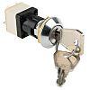 IP67 Key Switch, DPST, 4 A @ 250 V ac 2-Way