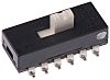 Surface Mount Slide Switch 4PDT 300 mA @