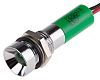 RS PRO Green Indicator, 12 V dc, 8mm Mounting Hole Size, Lead Wires Termination, IP67