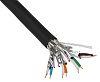 Belden Black Flame Resistant Non-corrosive, FRNC Cat7 Cable
